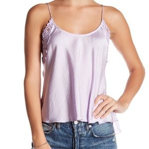 Woah Applique Cami in Lilac